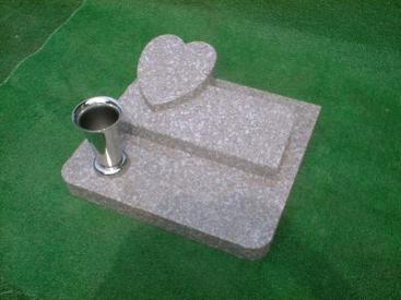 高級山崎石(グレー)のペットのための墓石